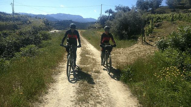 Team juma in a bicycle holiday in douro valley and in the atlantic coast of portugal