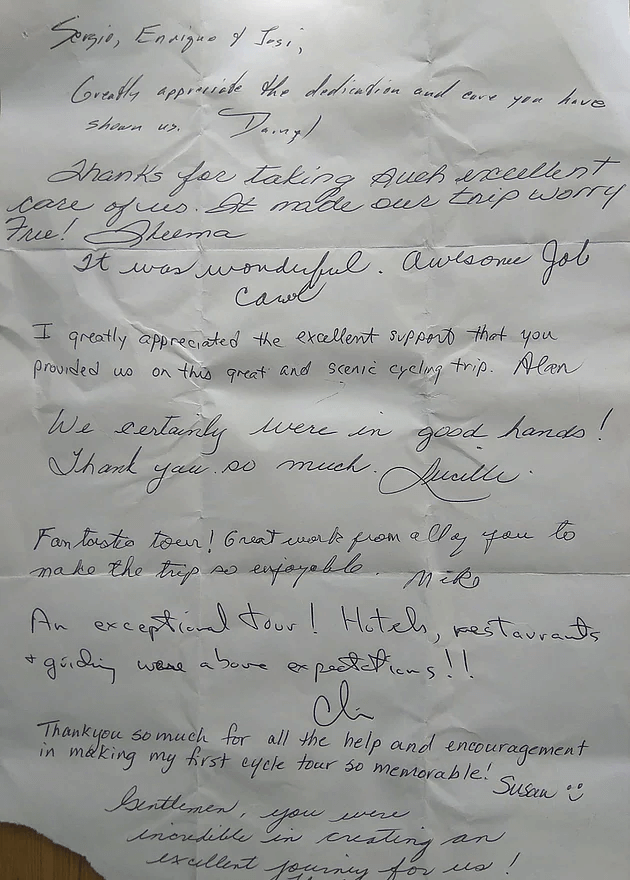 letters from our customers